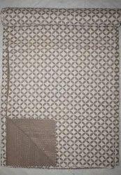 Indian Queen Handmade Kantha Quilt Block Print Bedspread Ethnic Vintage Art Thro