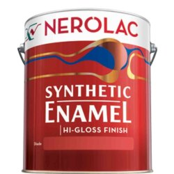 High Gloss Red Nerolac Synthetic Enamel Paint, Packaging Type: Bucket
