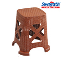 Plastic Smarty Light Brown Stool, Width: 295 Mm, Height: 450 Mm