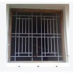 Aluminium Painted Stylish Grill Windows, For Residential