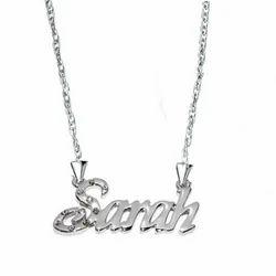 Silver Name Pendant