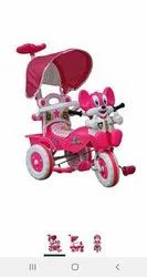 Kid Pink Baby Tricycle, Foam Padded With Backrest, Bell