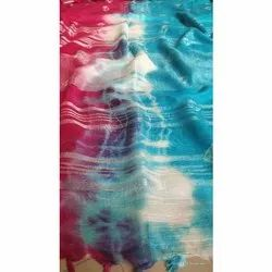SUB Tie and Dye Linen Saree, Length: 6 m (With Blouse Piece)