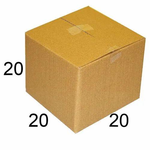 Brown VCR Square Corrugated Box