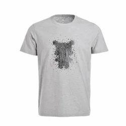 Cotton Half Sleeve Printed T Shirt, Size: S-XL