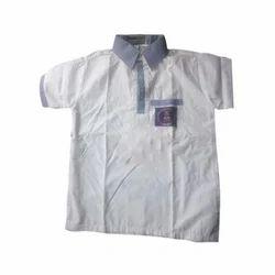 Summer Half Sleeves Button School Shirt