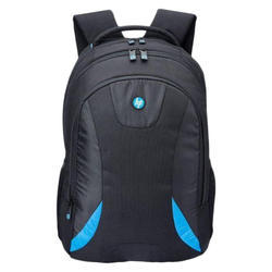 Polyester Black HP Laptop Backpack, Size: Free