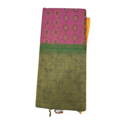 Ladies Cotton Saree, 8 Mtr With Blouse