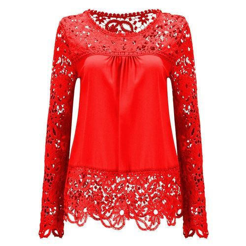 394cabc9ac9e44 Red Embroide Ladies Fashionable Top, Rs 450 /piece, Kam Kreation ...