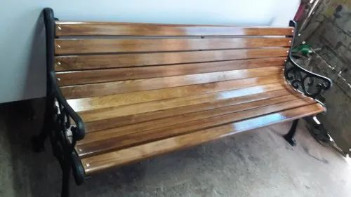 Fabulous Polish And Paint With Arm Rest Wooden Garden Bench With Machost Co Dining Chair Design Ideas Machostcouk