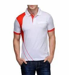 Half Sleeve Mens Collar Neck Sports T Shirt, Size: XS - 3XL
