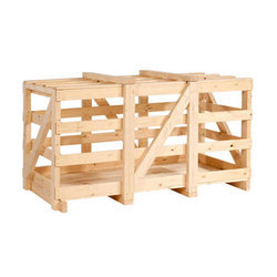 Rectangular Pine Wood Crate, For Industrial