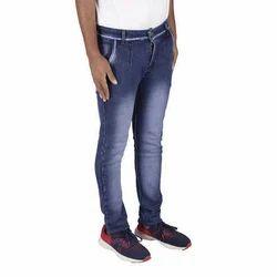 Blue Denim Mens Stretchable Jeans