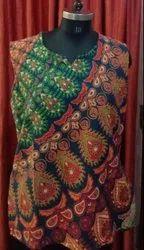 棉质圆领女士印花上衣,尺码:免费尺码