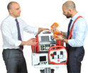 RESCUE Life Manual and Semiautomatic Defibrillator with Monitor