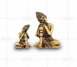Gold Plated Small Buddha Statue