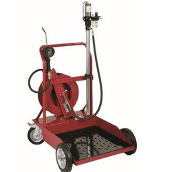 Heavy Duty Mobile Oil Transfer Kit with Hose and Trolley