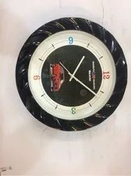 Round Black Promotional Wall Clock