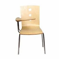 SMF Brown Wooden Writing Chair, No Of Legs: 4, for School