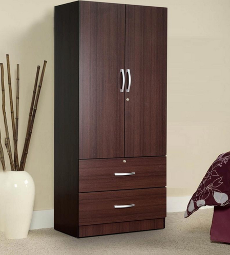 H 71 X W 32 X D 18 Two Door Wardrobe With Drawer