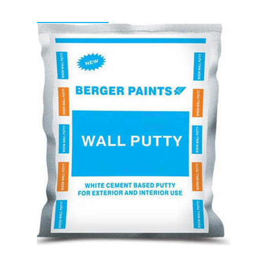 Berger White Cement Based Wall Putty, Packing Size: 40 kg