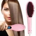 Fast Hot Comb Brush LCD Screen Flat Iron Styling Hair Straightener