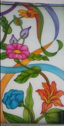 Flower Design Glass