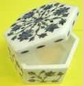 Italian Marble  Box With Floral Design