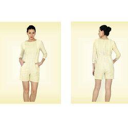 Yellow Stripe Linen Jumpsuit