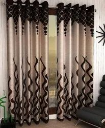 Polyester Printed Window And Door Cartain, Size: 3x3 Feet