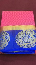 Party Wear embosed Silk Sarees, 6.3 m (with blouse piece)