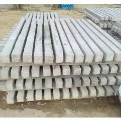 Concrete Rectangular 7 Feet Fence Pole