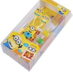 Minions Cartoon In- Ear Wired 3.5 Mm Earphone For Mp3 Mp4 Mobile Phone With Earplug Cover