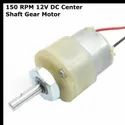150 RPM 12v DC Center Shaft Gear Motor