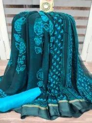 Pure Printed Chiffon Saree