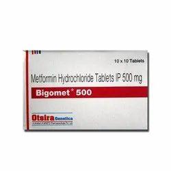 Bigomet SR TabletBigomet SR Metformin Hydrochloride Tablets IP 500 mg