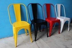 K D Craft Exports Metal Tolix Style Chairs
