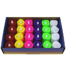 Little India Multicolor 6 Colourful LED Diya Set DD201