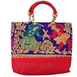 Double Handle Ladies Handicraft Hand Bag