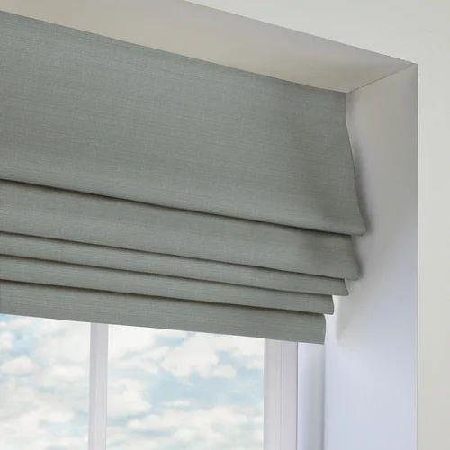 Fabric Grey Roman Blind Rs 250 Square Feet Ivish Decor