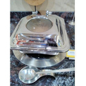 Square 7 Ltr Chafing Dish, Material Grade: Ss 304