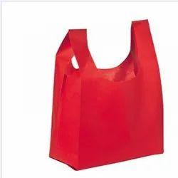 Plain Red Non Woven U Cut Bag