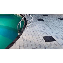 Swimming Pool Deck Cement Chequered Paving Tiles