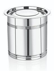 SS Round Containers For Kitchen, Packaging Type: Box