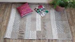 Vimla International矩形天然纤维棉桩地毯,尺寸:4x6英尺