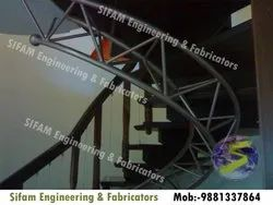 Mild Steel Round MS Staircase (Cantilever Staircase)