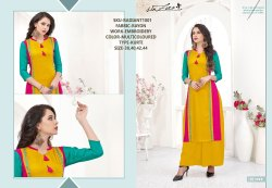 Rachna Rayon Delicated Embroidery Work Radiant Catalog Kurti For Women