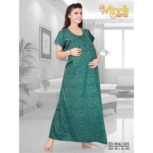 a12877275e Green Medium Cotton Maternity Nighty, Rs 599 /piece, Shubh Shri ...