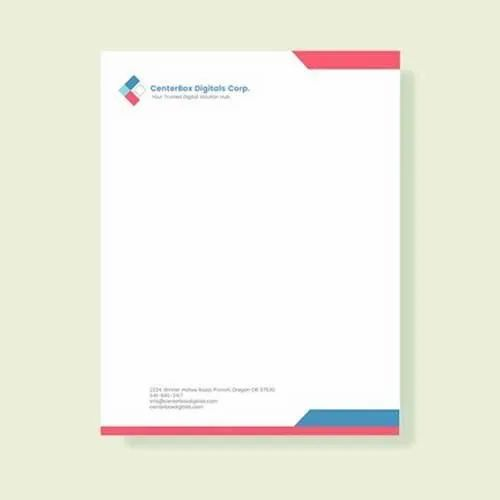 Rectangular Paper Printed Letterhead Rs 5 Piece Brahma Graphics Id 21103368562