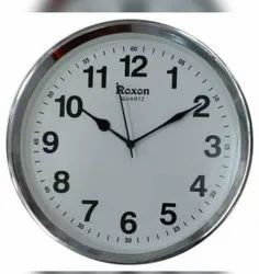 White Analog Wall Clock, Size: 13.5 inch, for Home Office etc